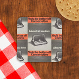 You'd be better off Conservative Cork Coaster (Lifestyle)