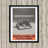 You'd be better off Conservative Black Framed Print (Lifestyle)