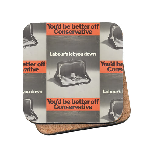 You'd be better off Conservative Cork Coaster