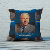 Firm action for a fair Britain Feather Cushion (Lifestyle)