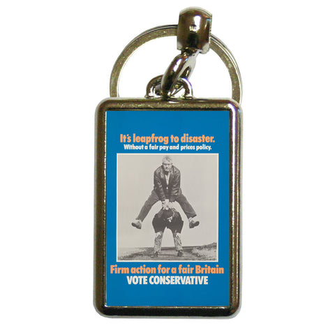 It's leapfrog to disaster Metal Keyring