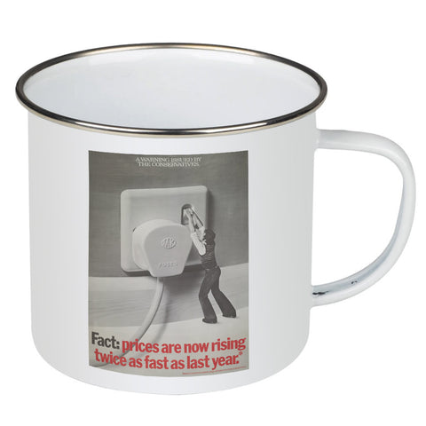 A warning is issued by the Conservatives. Giant Electric Plug Enamel Mug