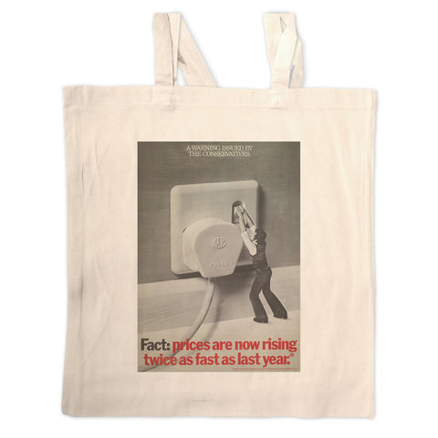 A warning is issued by the Conservatives. Giant Electric Plug Long Handled Tote Bag