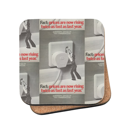 A warning is issued by the Conservatives. Giant Electric Plug Cork Coaster