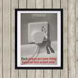 A warning is issued by the Conservatives. Giant Electric Plug Black Framed Print (Lifestyle)