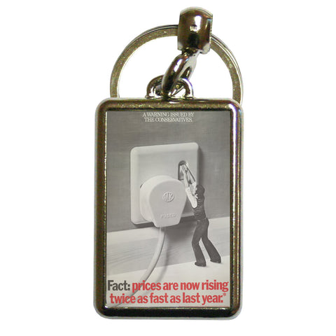 A warning is issued by the Conservatives. Giant Electric Plug Metal Keyring