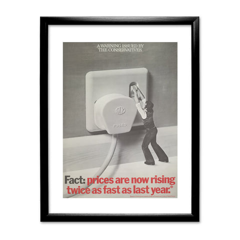 A warning is issued by the Conservatives. Giant Electric Plug Black Framed Print