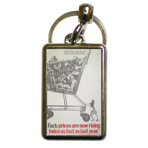 A warning is issued by the Conservatives. Giant Trolley Metal Keyring