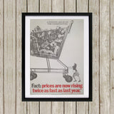 A warning is issued by the Conservatives. Giant Trolley Black Framed Print (Lifestyle)