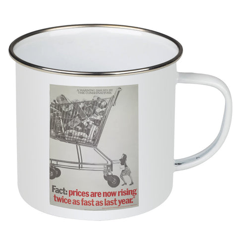 A warning is issued by the Conservatives. Giant Trolley Enamel Mug