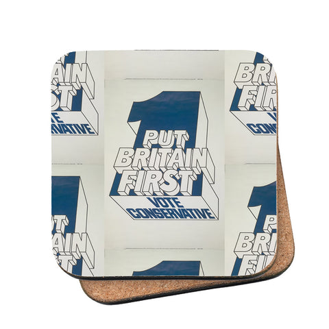 Put Britain first Cork Coaster