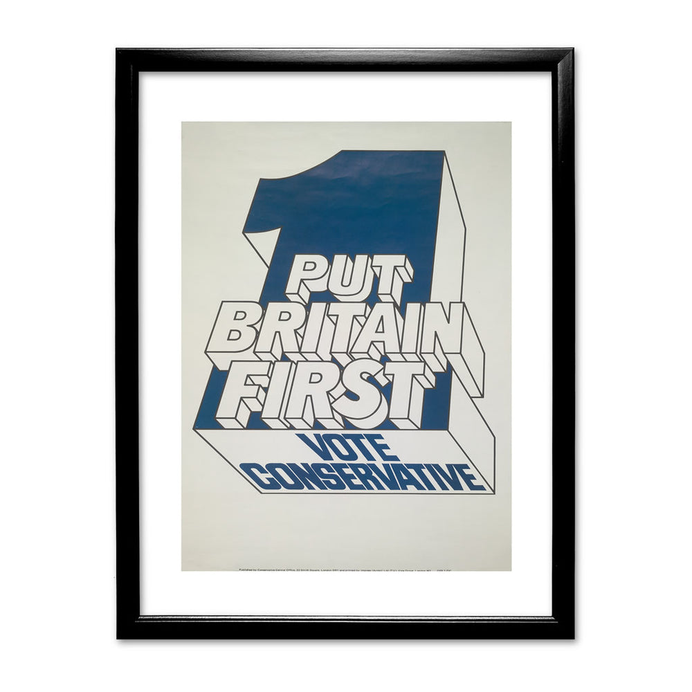 Put Britain first Black Framed Print