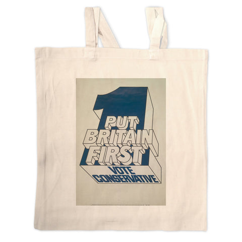 Put Britain first Long Handled Tote Bag