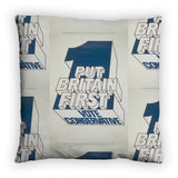 Put Britain first Feather Cushion