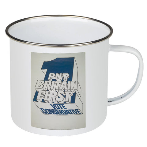 Put Britain first Enamel Mug