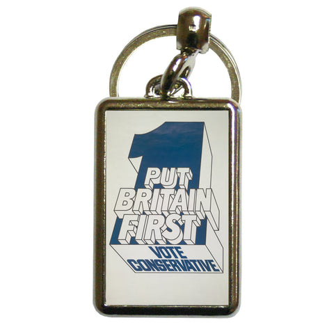 Put Britain first Metal Keyring