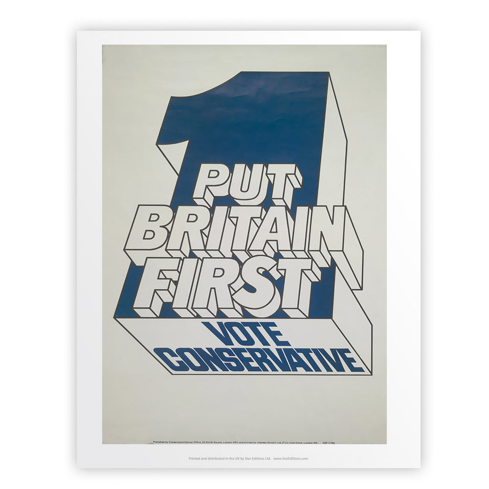 Put Britain first Art Print