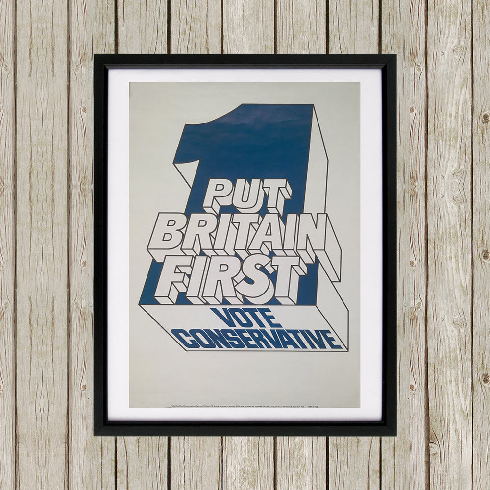 Put Britain first Black Framed Print (Lifestyle)