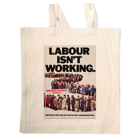 Britain's better off with the Conservatives Long Handled Tote Bag