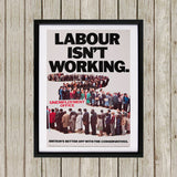 Britain's better off with the Conservatives Black Framed Print (Lifestyle)