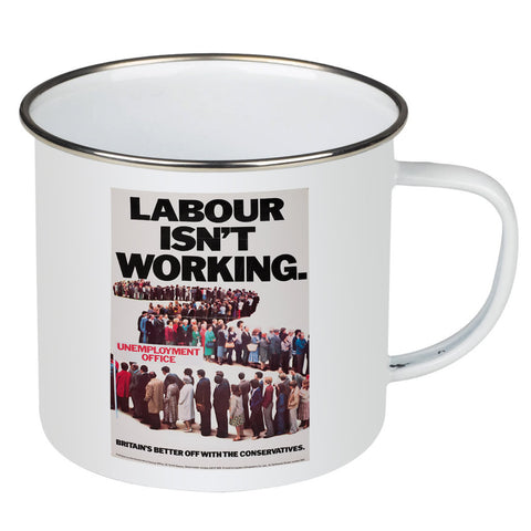 Britain's better off with the Conservatives Enamel Mug