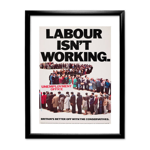 Britain's better off with the Conservatives Black Framed Print