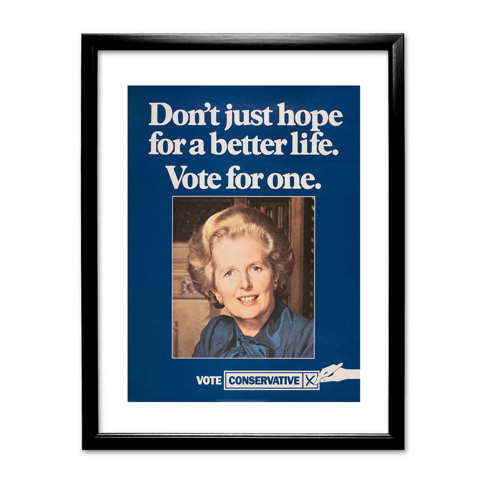 Don't just hope for a better life vote for one Black Framed Print