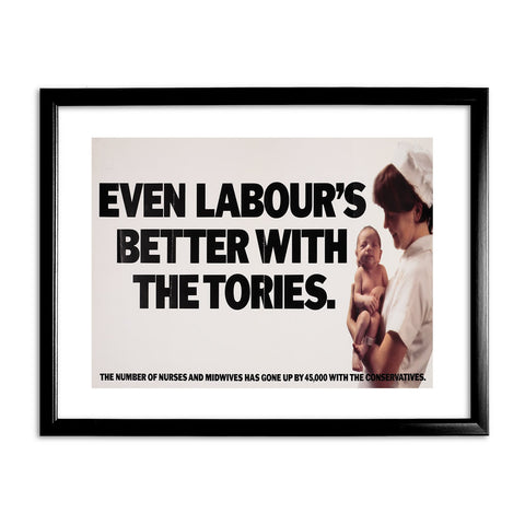 Even Labour's better with the Tories Black Framed Print