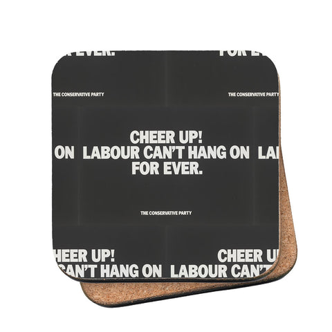 Cheer up! Cork Coaster
