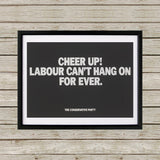 Cheer up! Black Framed Print (Lifestyle)