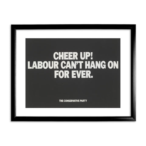 Cheer up! Black Framed Print