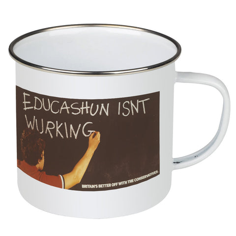 Educashun isn't wurking Enamel Mug