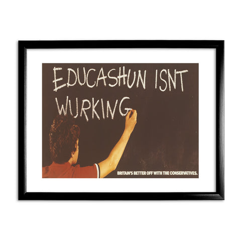 Educashun isn't wurking Black Framed Print