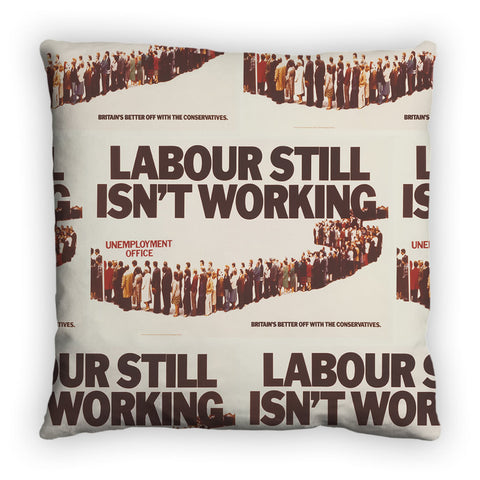 Labour still isn't working Feather Cushion