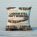Labour still isn't working Feather Cushion (Lifestyle)