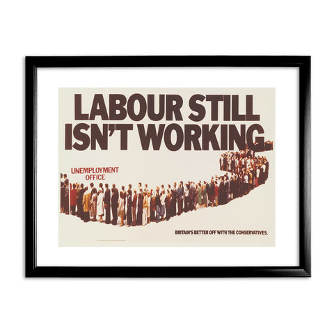Labour still isn't working Black Framed Print