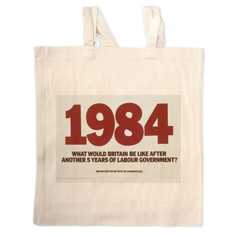 1984. What would Britain be like after another 5 years of Labour government? Long Handled Tote Bag