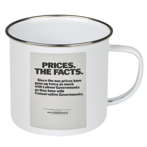Prices. The facts. Since the war... Enamel Mug