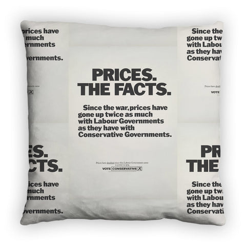 Prices. The facts. Since the war... Feather Cushion
