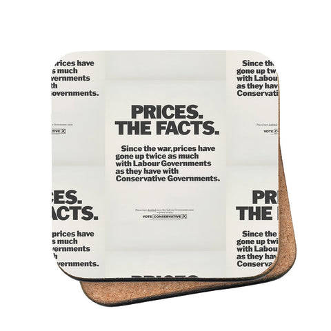 Prices. The facts. Since the war... Cork Coaster