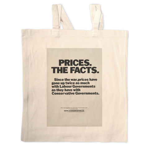 Prices. The facts. Since the war... Long Handled Tote Bag
