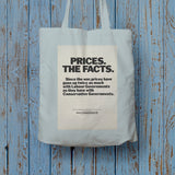 Prices. The facts. Since the war... Long Handled Tote Bag (Lifestyle)