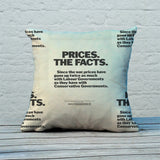 Prices. The facts. Since the war... Feather Cushion (Lifestyle)
