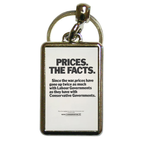 Prices. The facts. Since the war... Metal Keyring