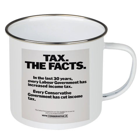 Tax. The facts. In the last 30 years.. Enamel Mug
