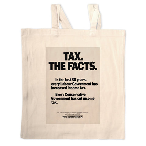 Tax. The facts. In the last 30 years.. Long Handled Tote Bag