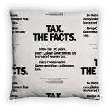 Tax. The facts. In the last 30 years.. Feather Cushion