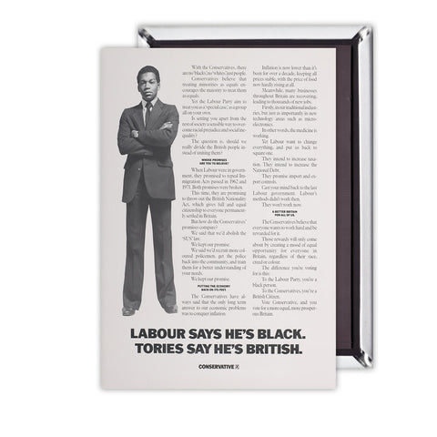Labour says he's black Tories say he's British Magnet