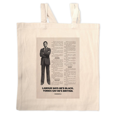 Labour says he's black Tories say he's British Long Handled Tote Bag