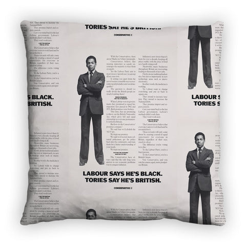 Labour says he's black Tories say he's British Feather Cushion